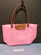 Longchamp Paris Le Pilage Large Pink Nylon Tote Bag Handbag 1055669