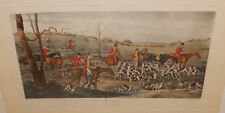 """THOMAS SUTHERLAND """"THE DEATH"""" AFTER HENRY ALKEN ORIGINAL COLORD ENGRAVING"""