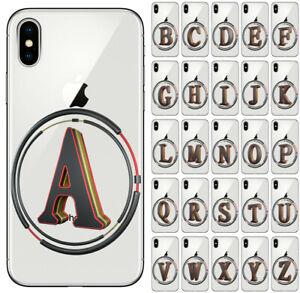 CUSTODIA COVER MORBIDA IN TPU SILICONE PER APPLE IPHONE X LETTERE  ALFABETO