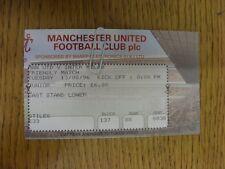 Billete De 13/08/1996: Manchester United v Inter de Milán [] partido amistoso. gracias por