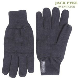 JACK PYKE MENS GLOVES 100% ACRYLIC WITH THINSULATE LINING WINTER BLACK GREEN