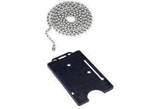 Steel Ball Neck Chain ID Card & Vertical ID Card Holder