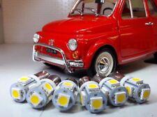 Classic Fiat 500 600 L F R 1957-75 Speedo Dash Gauge Warm White LED Bulb Set