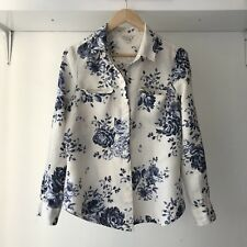 Monsoon Floral Linen Blouse Top, AU Size 10