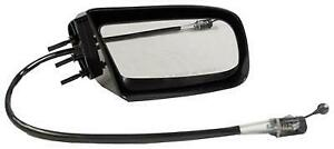Right Hand Door Mirror Smooth Black Manual Remote Non-Folding Non-Heated Fits