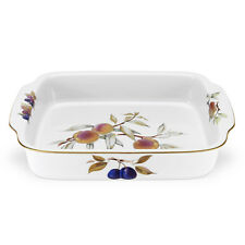 Royal Worcester Evesham Gold Rectangular Handled Dish 30 x 23.5cm