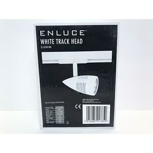 Enluce White Track Head EL-10102-WH GU10 Lamp Holder - C/W GU10 LED
