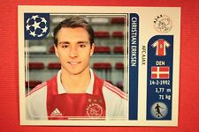 PANINI CHAMPIONS LEAGUE 2011/12 N. 254 ERIKSEN AJAX WITH BACK BACK MINT!!