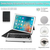 Detachable Bluetooth Keyboard Leather Case For 2017 Apple iPad Pro 12.9'' Tablet