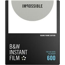 Impossible PRD4525 Black&White Glossy Instant Film for Polaroid 600 -Round Frame
