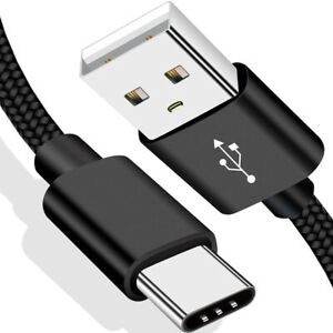 3 PACK 6ft Type C to USB-A Nylon Braided Fast Charger Cable Quick Charging Cord