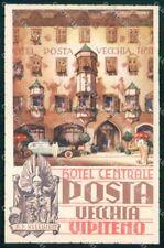 Bolzano Vipiteno Hotel Centrale Posta Vecchia Lenhart cartolina RT1867
