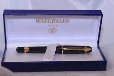 Waterman Phileas Roller Ball Pen,Black Gold Trim, box NOS PEN, LOOK :-)