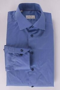 Eton Contemporary Shirt Blue Size 15.75/ 40 *F0626a6