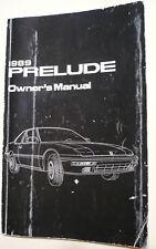 1989 (3rd gen) Honda Prelude Si owner's manual. 1988, 1990, 1991