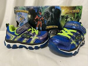 Skechers X-CELLORATOR Sport Sneaker Blue/Lime Toddler Size 6 Eur 21.5 UK 5...SK2