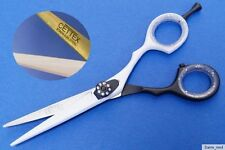 "Hairdressing Scissors Hair black/white approx. 5,5"" Right handed japan Steel"