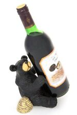 Honey Bear Resin Wine Bottle Holder Bar Cabin Nature Decor FREE SHIPPING