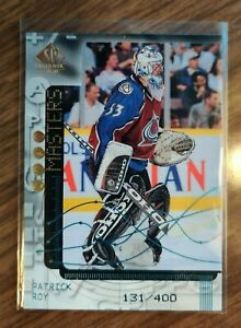 1998-99 UD SP Authentic #SO15 Patrick Roy SP Stat Masters #131/400 Avalanche