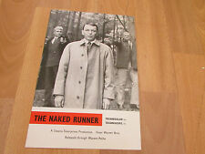 The NAKED Runner Frank SINATRA  Original Film Promotional PRESS Sheet