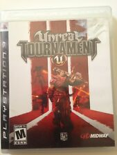 Unreal Tournament III (Sony PlayStation 3, 2007) with Original Case & Manual