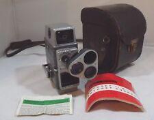 Vintage 1960s Bell & Howell Autoset Turret 8mm Cine Camera Case & Instructions