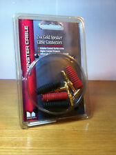 Monster Cable placcato oro 24k speaker connettore spine altoparlanti HIFi