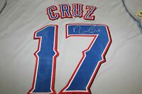 NELSON CRUZ AUTOGRAPHED AUTO SIGNED TEXAS RANGERS JERSEY 2011 WORLD SERIES PATCH