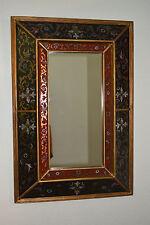 Hand Painted Peruvian Folk Art Wall Mirror