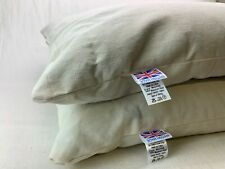 "Set of 2 Refurbished 17"" x 24"" (Standard Size) Organic Buckwheat Pillows"