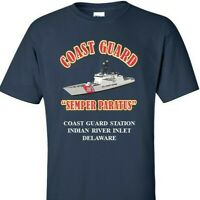 COAST GUARD STATION INDIAN RIVER INLET- DE *COAST GUARD VINYL PRINT SHIRT/SWEAT
