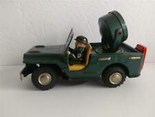 Vintage Made in Japan Military Vehicle and Driver with Spotlight Tin Toy