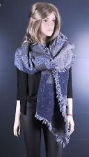 Neuf  - Grande longue écharpe chaude   mode femmes filles  gris bleu kaki    303