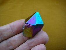 (R1-51) iridescent Aurora Crystal quartz titanium GEM gemstone Aura specimen