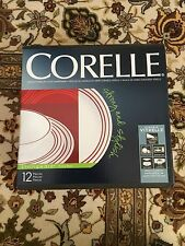 Corelle Livingware 12 Piece Dinnerware Set, Ruby Red-NEW