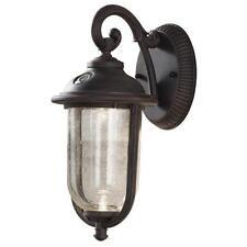 "Hampton Bay Perdido Rustic Bze Integrated LED 6 "" Wall Mount Lantern  Photocell"