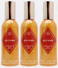 3 Bath & Body Works AUTUMN Concentrated Mini Room Spray Perfume 1.5 oz
