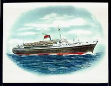 Original Art Work.. tn ANDREA DORIA...ocean liner..Italia..profile...