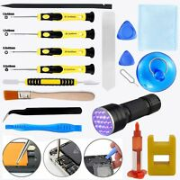 16 x Tools/ 5ML Liquid Optical Adhesive Glue/ UV Light For Repairing Cell Phone