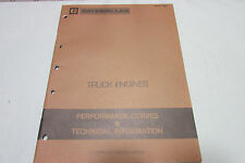 Caterpillar Truck Engines Performance Curves & Technical Information Manual 1983
