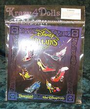 Disney Villains Designer Doll Shoe Pins New! Maleficent, Ursula, Cruella, Queen