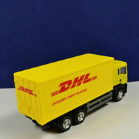 DHL Express Freight Truck1:64 Scale Yellow Delivery Diecast Car Model Toys