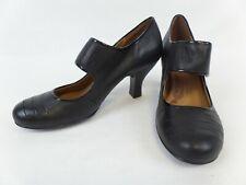 Ladies Black Leather Sofft Shoes-Heels-Size 8(42)-Unworn?