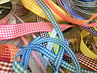 Berisfords Gingham Check Ribbon Choose Shade 5 10 15 25 40 mm Widths Per Metre
