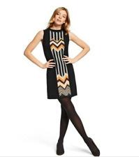 MISSONI FOR TARGET ZIG ZAG SWEATER DRESS  - SMALL Black, Multi Color