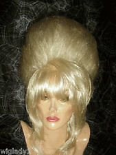 SIN CITY WIGS POOF GLAMOROUS UP DO SEXY BLONDE BEEHIVE ELEGANT FANCY LOOK HOT