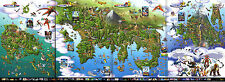 Pokemon 3DS World Map  -  Poster Huge 34 in x 20 in -Fast Shipping