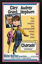Audrey Hepburn & Cary Grant Charade Movie Poster Framed