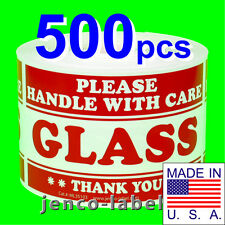 ML35103, 500 3x5 Glass Handle With Care Labels/Sticker