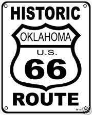 Route 66 Oklahoma aluminium sign    (ss)
